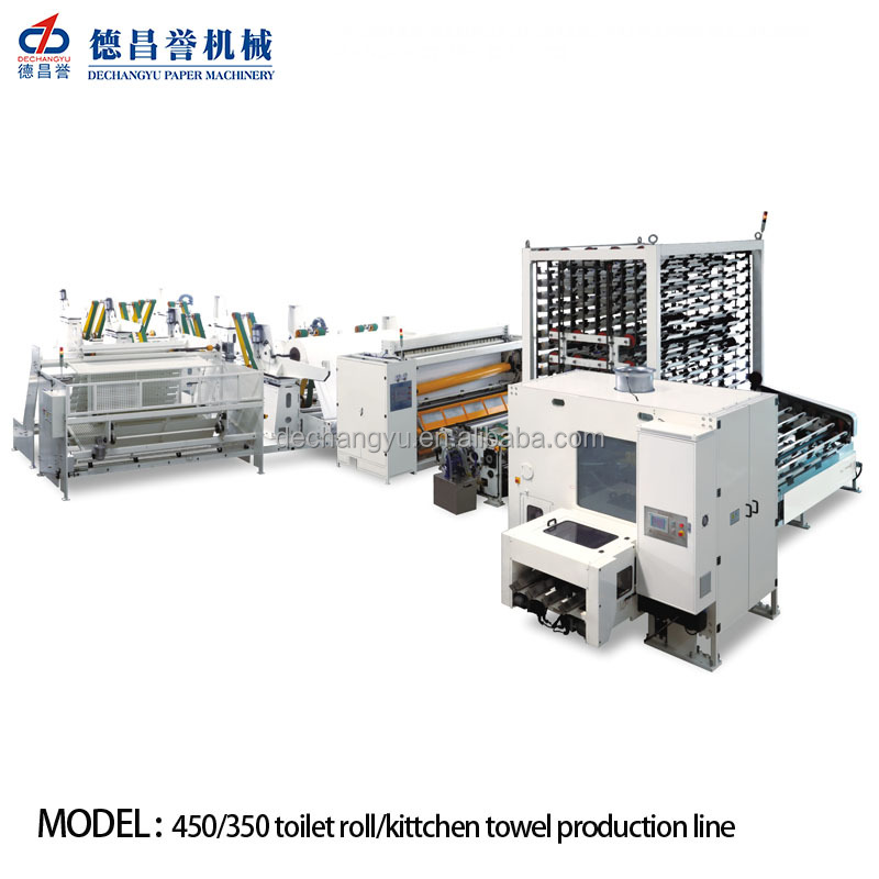 Long Using life Full auto Glue Laminated Kitchen Towel and Toilet paper making machine price