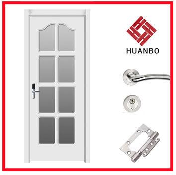 Puertas interiores de vidrio de madera para ba o puertas - Puertas de vidrio para interiores ...