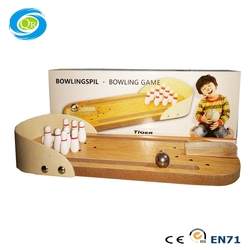 Kids Mini Wooden Tabletop Bowling Game Educational Toy For Children For Fun