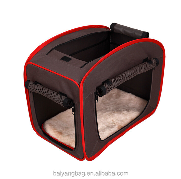 Durable waterproof 600D large pet tent dog carrier for car outside