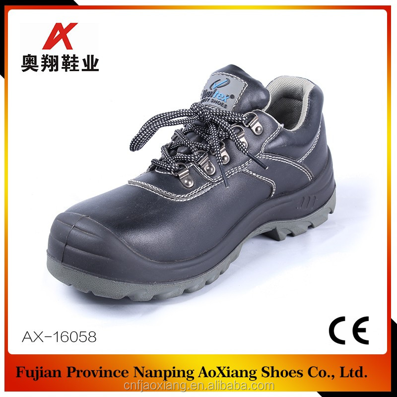China safety shoes manufacturer cow leather safety working shoes