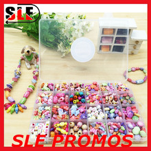 Eco friendly girl DIY toy educational kids jewelry making toy construction toy
