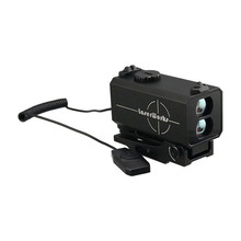 High quality weapon mountable horizontal distance+angle laser rangefinder, hunting riflescope with width adjustable mount