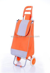 2014 JIAFEI new product vegetable and fruit portable folding shopping trolley bag with wheels priting logo