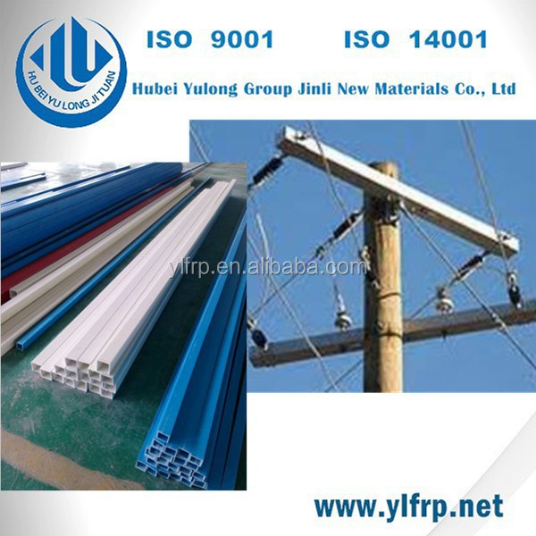 corrosion resisitant fiberglass square tube for cross arm