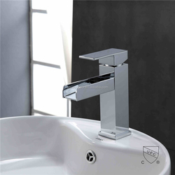 Hot and Cold Solid Brass Hand Wash Waterfall UPC Basin Mixer