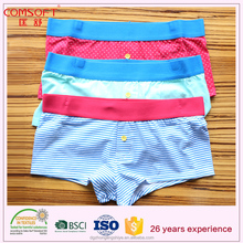 OEM design cotton men panty/ men's underwear with polyester waistband