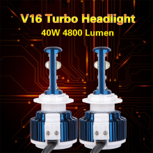 Factory cheap V16 turbo Automotive light CREEs XHP-50 LED headlight high power H8 H9 H11 H4 car headlight 80w 9600lm h7 led