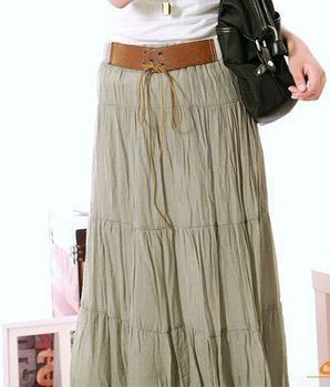 Lastest 2013 New Women Spring Summer Thick Skirts Womens Long Maxi Skirt