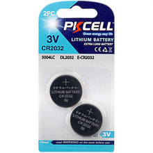 PKCELL Best Selling 3 volt Batteries Lithium Button Cells Battery 3v CR2032 ECR2032