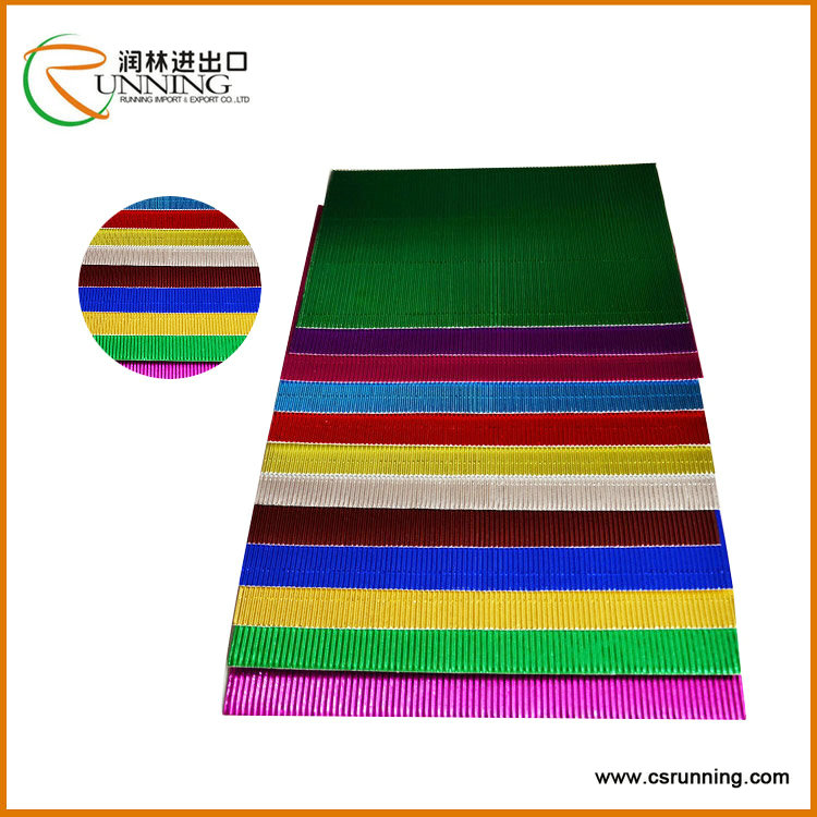 2016 Gift and Cosmetic Packing and Art Craft metallic Corrugated Paper colorful