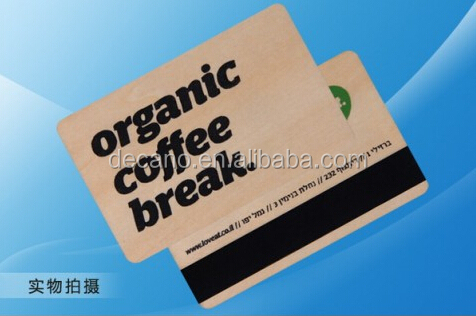 Wooden Membership card with Hi-co magnetic stripe