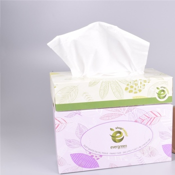 2Ply Natural Soft White Box Facial Tissue Paper