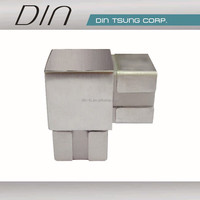304 316 Stainless steel tube connector /pipe fitting/handrail fitting/3 way square pipe connector