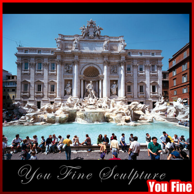 Large Outdoor Marble Water Fountain Of Fontana di Trevi Fountain