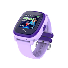 Smart Watch Kids GPS Tracking Watch with Blue Purple Color, LBS GPS Tracking Device Kids Security GPS Watch mobile phone