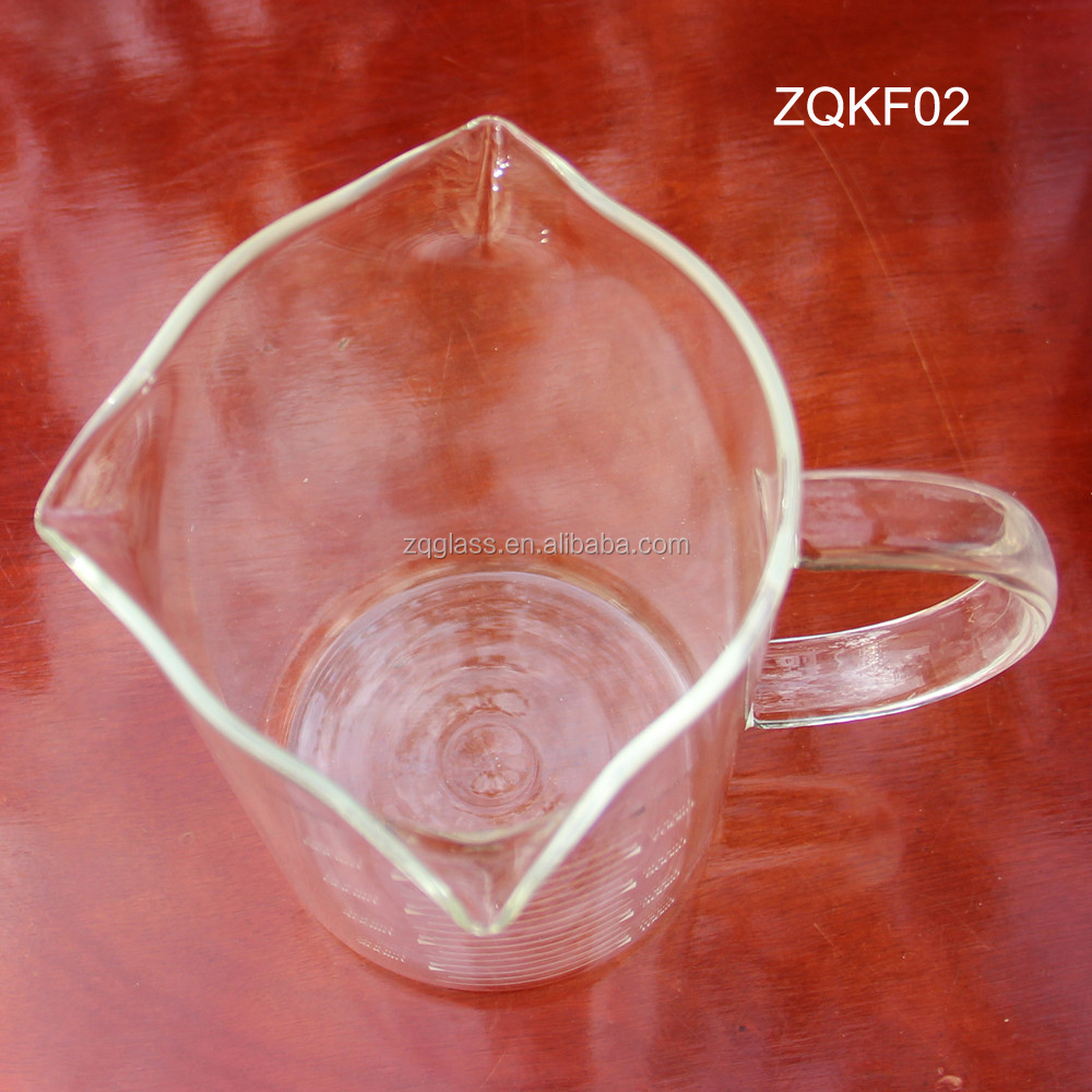 12OZ 17OZ 34OZ 350ml 500ml 1000ml New Heat Resist Pyrex Borosilicate Glass Mug with 3 Spouts