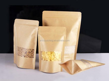 New products custom kraft paper coffee food packaging bags with window