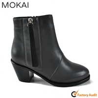 15GRFWS003 Ladies Italian leather shoes real fur inside women fashion shoes imported from China