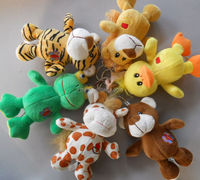 Custom Small Animals Toys plush keychain