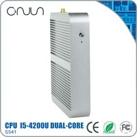 industrial barebone mini pc thin client fanless barebone media center case