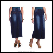 Long Jean Skirt 2014 Pictures Of Blue Long Jean Skirts for women