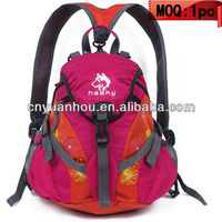 high quality 15L hiking backpack bag for girls