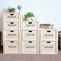 Drawer type wooden case with nature color