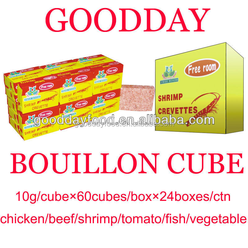 10g*64*24 shrimp crevette soup bouillon cubes with nice packing and cheap price
