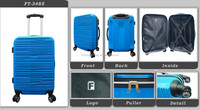 Trendy High quality hot sale item Newest promotional fashion men Travel ABS luggage Trolley case light blue color