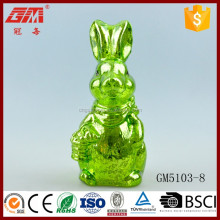 Blowing glass LED easter bunny ornament spring decor