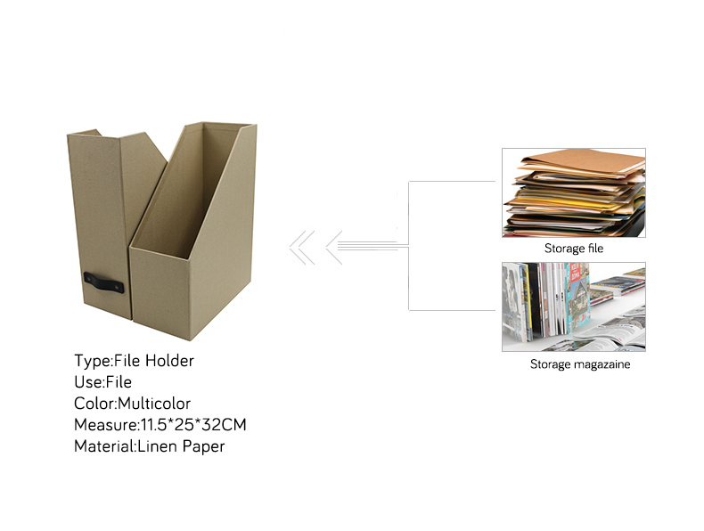 NAHAM wholesale desktop cardboard magazine file storage box