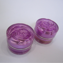 flower acrylic cosmetic cream jar