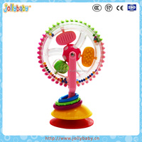 Australian Jollybaby Funny And Vavid Color Kids Toy Plastic Sky Wheel Toy With Suction Cup