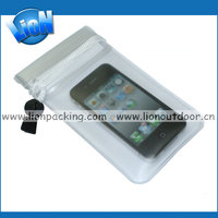 Wholesale low price mobile phone waterproof bag with sling