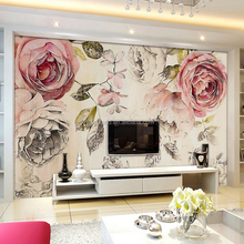 Giant Flower and Branch 3D Wallpaper/Wall Mural for Interior Decoration
