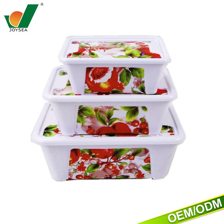 Disposable food container customized to mark the food container set 3 compartment lunch box