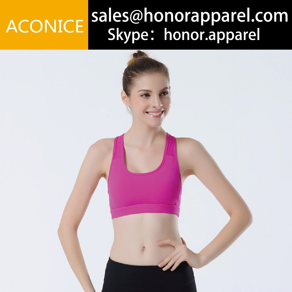 factory OEM DEM Hot Sale dry fit women's gym wear, Fitness Gym sports wear, fitness wear ladies sexy yoga bra