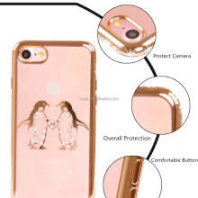 New products protective soft case for iphone 6 case tpu transparent crystal diamond