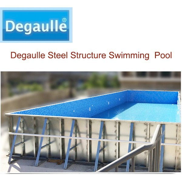 Degaulle swimming pool,steel swimming pool ,steel wall pool