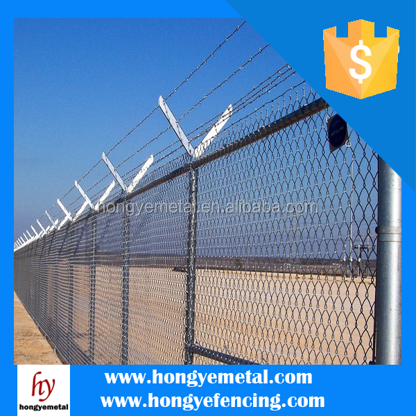 Hot Dipped Electro Galvanized Woven Diamond Wire Mesh Chain Link Fencing