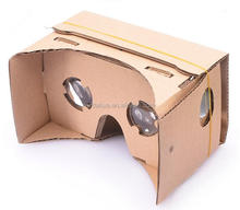 Top quality DIY 3D Google Cardboard for 3D Games and movies, cheap price and hot sale for 3D VR glasses
