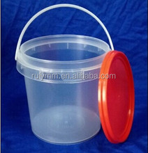 Wholesale 1L clear food grade plastic container with lid and handle for sale