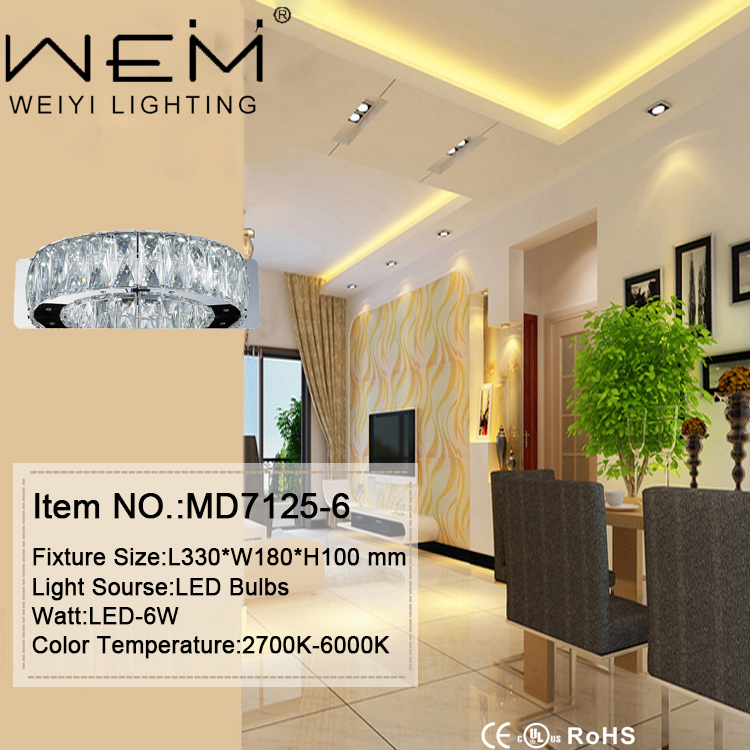 Indoor Lighting Popular Home Decor Wall Sconce Hotel LED 6W Clear K9 Crystal wall light lamp lights