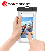 Zonesport New Product ROHS Certificate TPU Waterproof Cellphone Bag