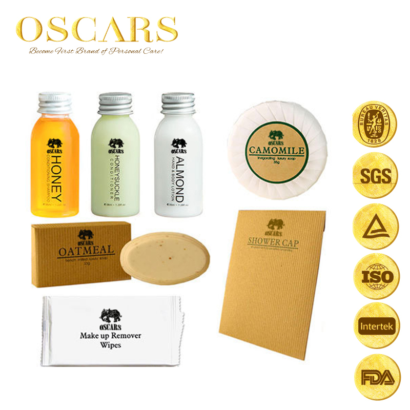 Gold suppliers Low price Wholesale hotel amenity /hotel amenity set for 5 satr hotel