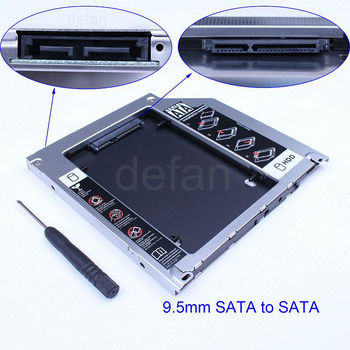 Optical Super 9.5mm hard drive caddy for laptop hdd 2.5 sata 2nd hdd caddy