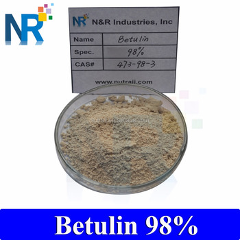 Wholesale birch bark extract betulin powder 70%, 90%, 98%, 99%/ betulin