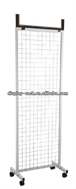 HOT!!!!simple white wire double side wall hanging stand display HSX-2260