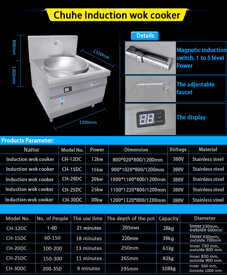 Commercial Induction Wok With Single Burner